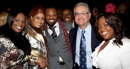 Pictured at the event are, left to right: VP Writer/Publisher Relations, Catherine Brewton; gospel music legend Dorinda Clark-Cole; BMI executives Wardell Malloy and Malik Levy; BMI President/CEO Del Bryant; Sherri Shepherd from The View.