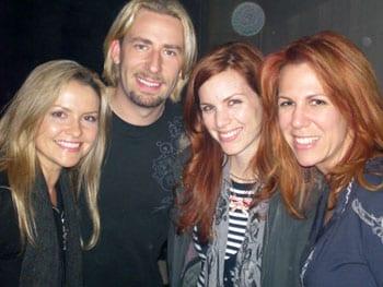 (L-R) Kroeger's fiance Marianne Gurick, Kroeger, Farrell and Shaw.