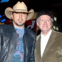 Mid-size Label Artist of the Year Jason Aldean and Robert K. Oermann