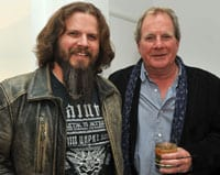 Jamey Johnson is pictured with UMG Chairman Luke Lewis