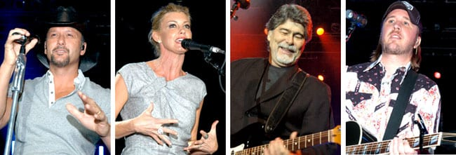 Tim McGraw, Faith Hill, Randy Owen and Lance Miller