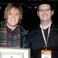 Small Label Breakout Artist of the Year Rick Huckaby and MR Chart Dir. Jon Freeman