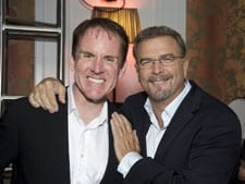 (L-R) President of CMT Brian Philips with CMT Music Awards host Bill Engvall after the awards show. (Photo: Charlotte Stremler/CMT).