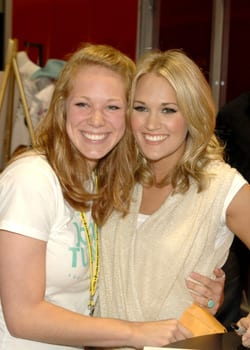 Carrie Underwood with Haley Steele from Ga. Photo: Jim Hagans