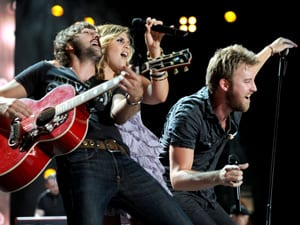 Lady Antebellum performs at the VAULT Concert Stage at LP Field in Downtown Nashville June 12. Photo: John Russell