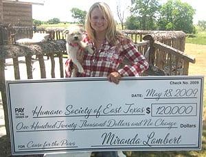 Miranda and Delilah, a Humane Society of East Texas alumnus.