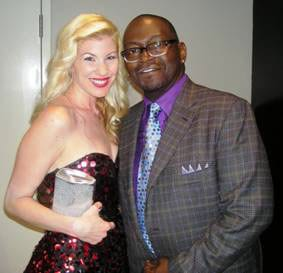 Capitol Nashville's Emily West and American Idol judge Randy Jackson at the CMT Music Awards.