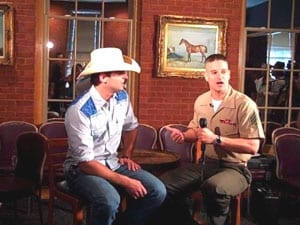 "Broken Bow Records' Dean Brody will be included in ""Operation Music City,"" a special to air on the Pentagon Channel over the 4th of July weekend.  While the talented singer/songwriter's newest single, ""Gravity,"" will hit the hearts of radio listeners with its romantic message of undying love.     Starting July 3rd through 5th, members of the U.S Armed Forces will be able to tune into the Pentagon Channel to watch Sgt. Ted Macdonald interview Brody and talk about his debut single, ""Brothers."" The top 25 single connected with military families across the world due to its honest lyrics and touching sentiment. The Pentagon Channel broadcasts military news and info for 2.6 million members of the U.S. Armed Forces and is distributed 24/7."