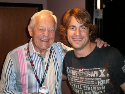 This past weekend Jimmy Wayne had the chance to grab a photo with Bob Schieffer, host of CBS' Face The Nation, while on the Brad Paisley tour in the DC area.