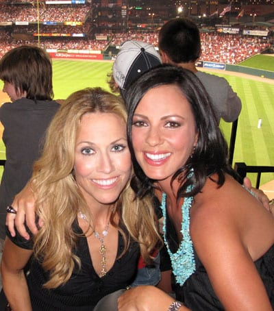 "There were stars on the field and in the stands for this week's 80th Major League Baseball All-Star Game, which included musical performances by friends and fellow celebs Sara Evans and Sheryl Crow.  Evans, who lit up the 7th inning stretch with a performance of ""God Bless America,"" is poised to impact country radio this coming Monday with her incredible new single, ""Feels Just Like a Love Song."" Photo credit: Stephen Navyac"