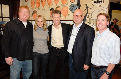"ASCAP celebrated the success of Carrie's Underwood's 10th #1 single ""I Told You So""  at The Palm on Tuesday, July 14th. The song, penned by 27 year ASCAP member Randy Travis, also won him a #1 on Billboard's Country Chart in 1988 as well as an ASCAP Country Award back in 1989.  Pictured L-R are:  ASCAP's Mike Sistad, Carrie Underwood, Randy Travis, producer Mark Bright and ASCAP's Earle Simmons."