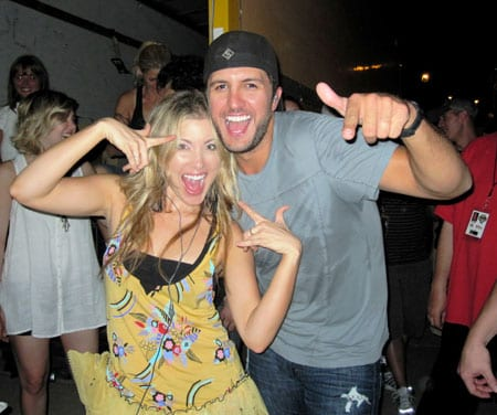 Sarah Buxton opened for Luke Bryan last month at the WGKX Kix on Beale show in Memphis. Buxton later joined Bryan onstage to sing the last two songs with him.