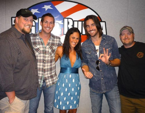 Pictured left to right: Big D, Jarrod Owen, Jessica (Jarrod's date), Jake Owen and Bubba
