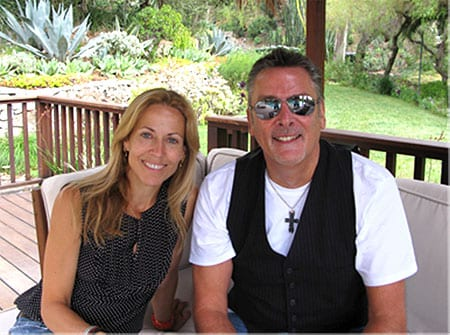 Sheryl Crow and Steve McMellon pictured in Los Angeles after concluding the deal.