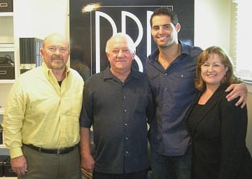 Pictured above L-R: Hallmark Direction Company Artist Manager John Dorris, Broken Bow Records CEO/President Benny Brown, Blake Wise, and Hallmark Direction Company Artist Manager Sheila Shipley Biddy.