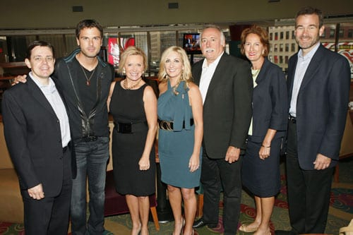 "CMA hosts a breakfast at the Marriott Marquis Times Square in New York City to view the CMA Awards nominations announcements live on ABC's ""Good Morning America"" on Sept. 9. (l-r) Dan Bowen, CMA VP of Marketing and Communications; RCA Nashville recording artist Chuck Wicks; CMA CEO Tammy Genovese; MCA Nashvhille recording artist Lee Ann Womack; CMA Board President Steve Moore, Senior VP, AEG Live!; Julie Talbott, Executive VP of Affiliate Marketing, Premiere Radio Networks and incoming CMA Board President Steve Buchanan, Sr. VP, Gaylord Entertainment. photo: Stuart Ramson"