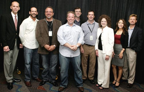 """(Pictured L to R):EddieStubbs(WSM-AM broadcaster),Joe Limardi(WSM-AM operations manager),John Walker(WSM-AM general sales manager),Jesse Goldstein(Loveless Cafe),Craig Havinghurst(writer),Todd Mayo(producer of """"Music City Roots: Live from theLoveless Cafe""""), Laurie Dashper(stage manager for """"Music City Roots: Live from theLoveless Cafe""""),Monica Romero(director of marketing for Vietti Chili, a sponsor of """"Music City Roots: Live from theLoveless Cafe"""") andChris Kulick(WSM-AM general manager) –photo by Mary Claire Crow"""