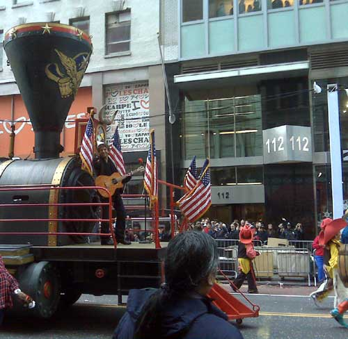 "Billy Currington performed his No. 1 hit ""People Are Crazy"" last Thursday for the Macy's Thanksgiving Day Parade in New York City. Currington rode the Herald Square Express float from Central Park down to 34th Street where he performed in front of the NBC cameras. Photo Credit: Mercury Nashville"