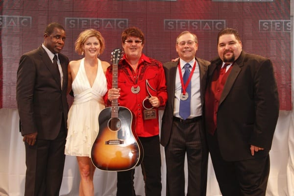 Pictured (left to right): SESAC's Trevor Gale & Shannan Tipton-Neese, Monty Powell, Universal Tunes' Pat Higdon & SESAC's Tim Fink.
