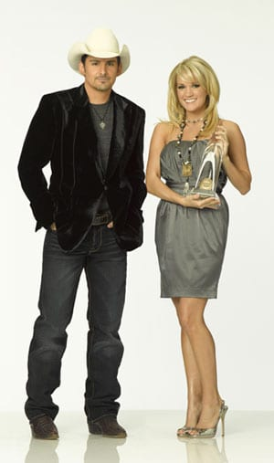 Carrie and Brad co-host the CMA Awards on Nov. 11.