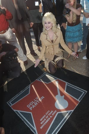 Dolly at her star. Photo: Alan Mayor