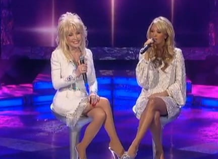 """Dolly and Carrie sang """"I Will Always Love You"""""""