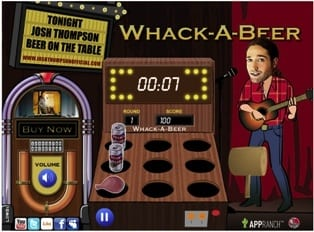 "Thompson's debut single, ""Beer On The Table,"" was the inspiration for his ""Whack-A-Beer"" game on his new web site. www.joshthompsonofficial.com lets visitors view videos and upload photos, follow Josh on Twitter, check on upcoming events, and interact in the online forums. Fans also have the ability to stream and purchase all four tracks from Thompson's newly released self-titled digital EP."