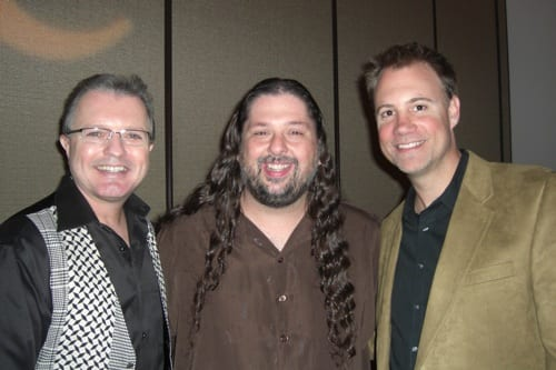 (L-R): ole Chief Creative Officer Gilles Godard, Chris Wallin, and ole's Shane Barrett