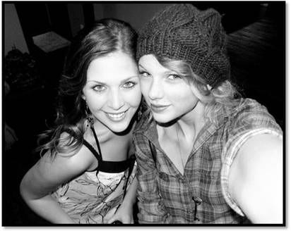 Lady A's Hillary Scott, and Taylor Swift. Swift has been posting pics she takes with her new Sony camera as part of her endorsement deal with the electronics giant.