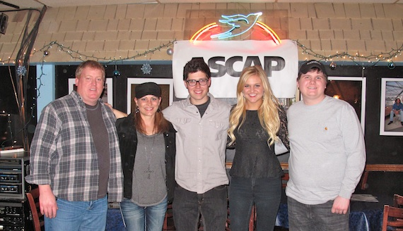 Pictured (L-R): ASCAP's Mike Sistad, Shaunna Bolton, Adam Hambrick, Kelsea Ballerini and Forest Glen Whitehead