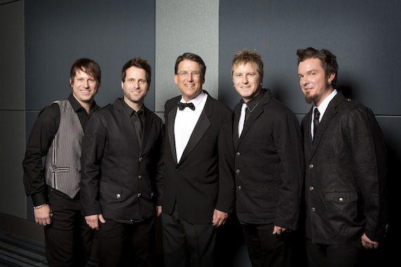 Pictured (L-R): Scott Thomas, Matt Thomas, Gov. Patrick McCrory, Barry Knox, Josh McSwain