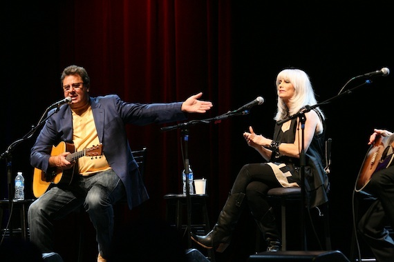 Vince Gill and Emmylou Harris at All For The Hall in 2010. Photo: Alex J. Berliner.