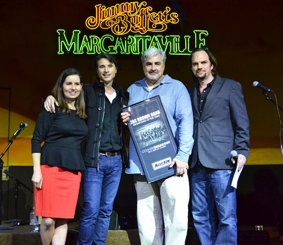 ROAR's Matt Maher and Chuck Swaney of Southern Ground Artists accepted the Group/Duo prize on behalf of the Zac Brown Band