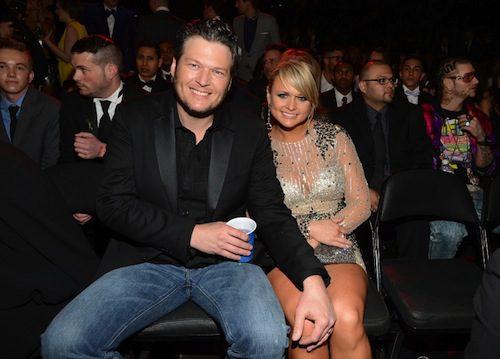 Blake Shelton and Miranda Lambert had a front row seat.