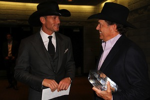 Tim McGraw and George Strait
