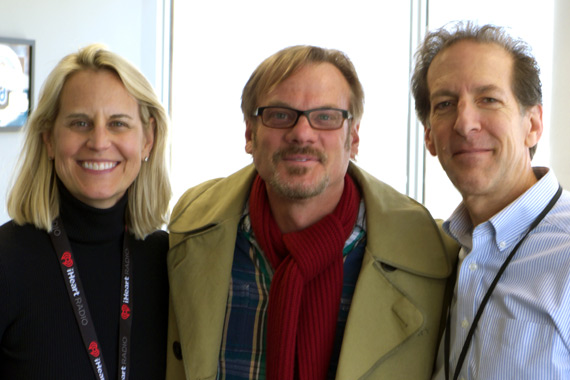 "Rodeowave Entertainment's Phil Vassar took his new single, ""Love Is Alive,"" to 98.7 WMZQ in our nation's capital. Pictured (L-R): Meg Stevens (Clear Channel DC/Baltimore OM); Vassar; and Paul Donovan (WMZQ MD)."