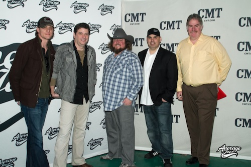Pictured (L-R): Stacey Cato, CMT, Manager, Music Strategy; Brian Bayley, CMT Music Strategy; AJE's Colt Ford; Shannon Houchins, CEO/Average Joes Entertainment and  Charles R. (Randy) Cain, Project Portfolio Director, Viacom Media Networks
