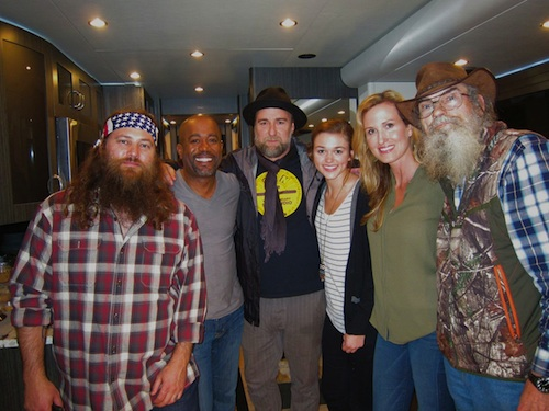 Pictured (L-R): Willie Robertson, Darius Rucker, Jim Wright, Sadie Robertson, Korie Robertson and Si Robertson. Photo: Joanna Carter
