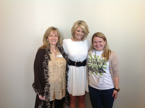 Pictured (L-R): Pamela Johnson (Vice President of Development, Country Music Hall of Fame and Museum) Lauren Alaina and Rachel Weingartner (Membership Manager, Country Music Hall of Fame and Museum)
