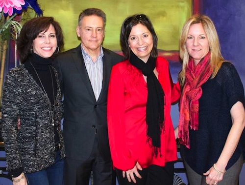 Pictured (L-R): Debbie Carroll (Exec. Dir. MusiCares), Randy Goodman (Co-Chair Music City Music Council), Sally Williams (GM Ryman Auditorium), Stacey Schlitz (Schlitz Law). Photo:  Denise Fussell