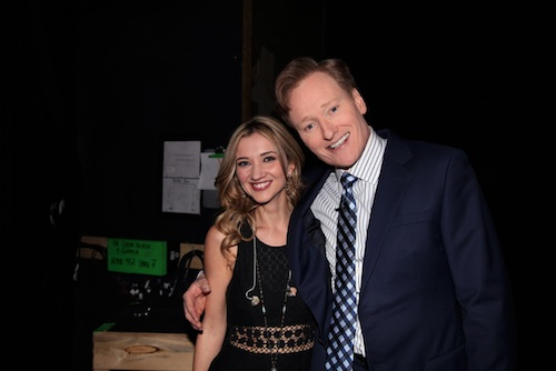 Pictured (L-R): Sarah Darling and Conan O'Brien