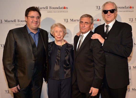 Pictured (L-R): Vince Gill, Peggy Joyce, Butch Spyridon and T Bone Burnett.
