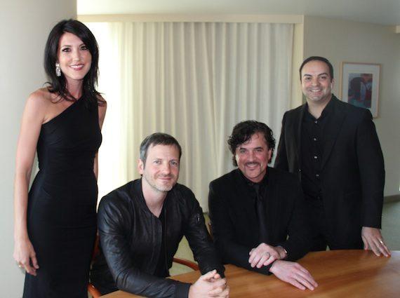 Pictured (L-R): Prescription Song's Beka Tischker, Dr. Luke, Big Machine Label Group President/CEO Scott Borchetta & Big Machine Music's Mike Molinar