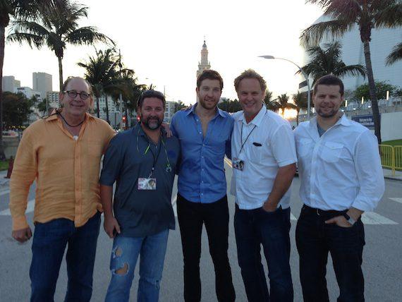 Pictured (L-R): John Esposito (President & CEO, WMN), Chris Stacey (SVP Promotion, WMN), Brett Eldredge, Scott Hendricks (SVP A&R, WMN) and Rob Baker (RLB Artist Management, LLC)