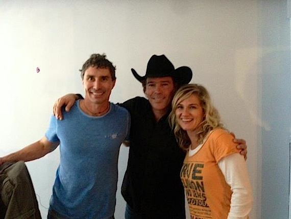 Pictured (L-R): Clay Walker with Gallery 63 owner Paul Brown and his wife.