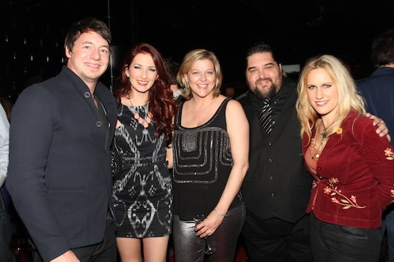 Pictured (left to right): Artist/songwriter Jon Stone, artist/songwriter Katie Armiger, SESAC's Shannan Hatch and Tim Fink and artist/songwriter Kristy Osmunson. Photo: Randi Radcliff