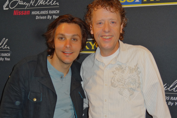Charlie Worsham visited with Eddie Haskell of KYGO while in Denver recently.