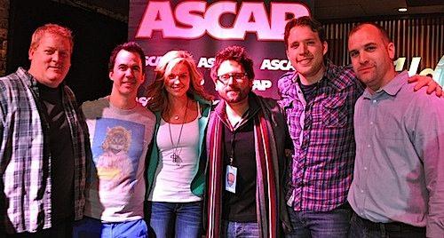 Pictured (L-R): ASCAP's Mike Sistad, JT Harding, Katrina Elam, Chris DeStefano, Matt Jenkins and ASCAP's Robert Filhart
