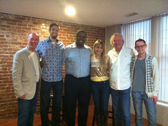Pictured (L-R): RG Jones, Sony Music Secondary Promotion Manager Robert Freeman, WDKN MusicDirector Kenneth Forte, President/WDKN Joanna Smith, RCA artist Dale Turner,WDKN Mornings Rusty Sherrill, Sony Music Secondary Promotion