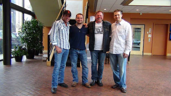 Pictured (L-R) Rhean Boyer, Out-Write Music Creative Director Brandyn Steen, Gary Loyd and Out-Write Business Manger Adam Roberts